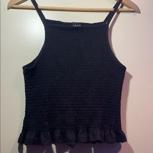 Justify Black Ruffle Tank Top